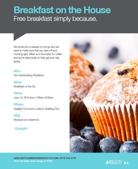 Residents can enjoy Break-To-Go on Monday, 6/15. Apartment ...