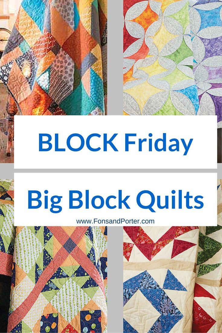 Free Big Block Quilt Patterns Interesting Inspiration Design