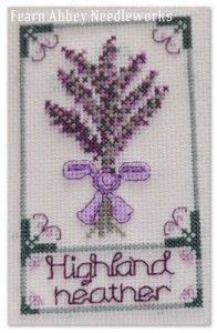 Highland Heather Cross Stitch Chart Cross Stitch Patterns Cross Stitch Cross Stitch Patterns Free