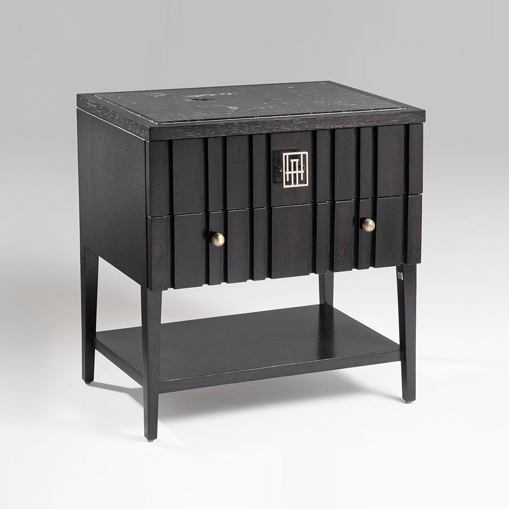 Best Grafito Nightstand 110 120 Marble Top Insert Wood Top 400 x 300