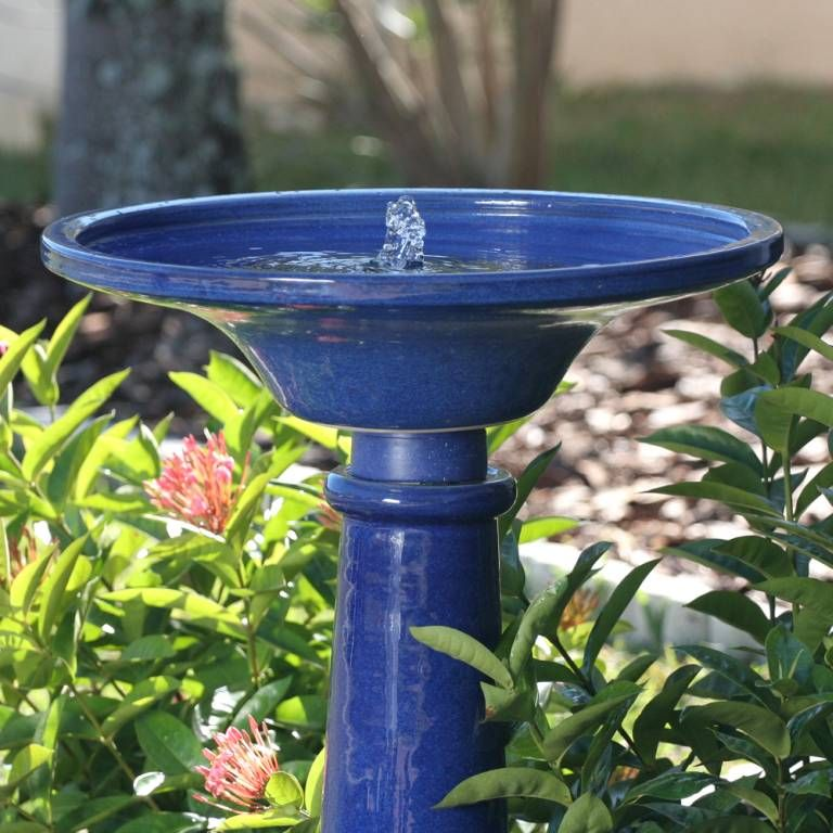Solar Ceramic Athena Bird Bath 25372Rm1 Bird Bath 400 x 300