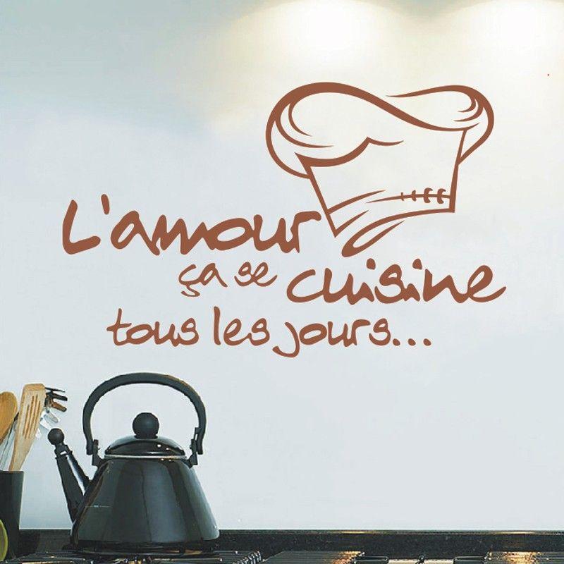 2016 reomvable cuisine autocollants fran ais vinyle - Stickers pour carrelage mural cuisine ...