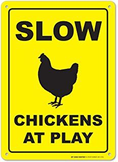 CHICKEN XING Aluminum Sign