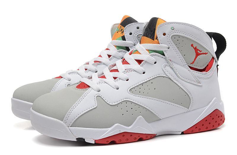 a5920c398666d6 Nike Air Jordan 7 Retro White Red Grey Men Shoes