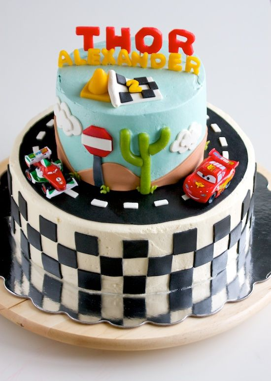 How to Make a Cars Themed Birthday Cake Cars birthday party