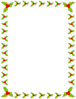holly border christmas scrapbooking pinterest xmas paper