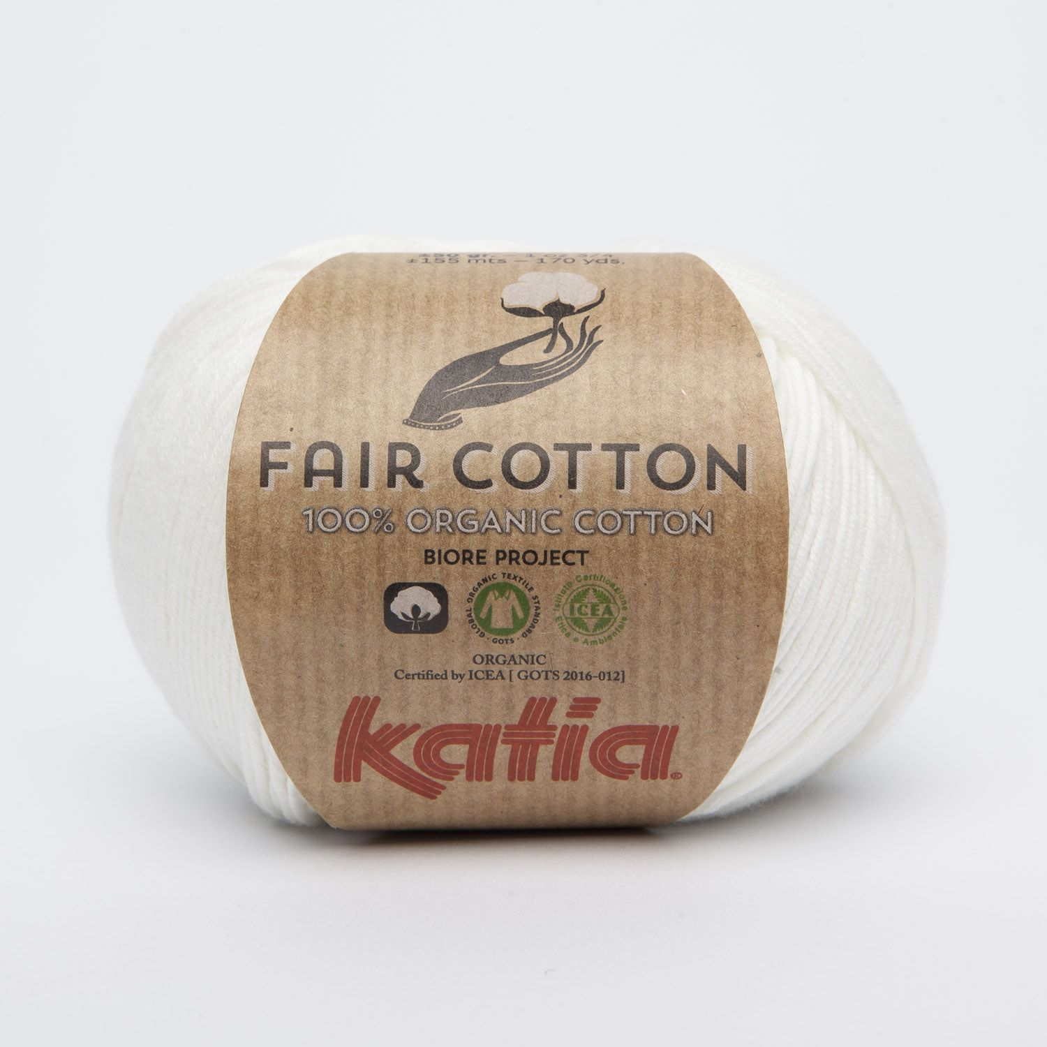 Katia Fair Cotton: 100% organic cotton cultivated according to the Fair Trade standards by small farmers from India and Tanzania.