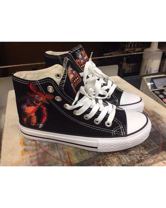 41cb90561a51 Custom Foxy Black Shoes Five Nights At Freddy s Kids by AKAinc ...