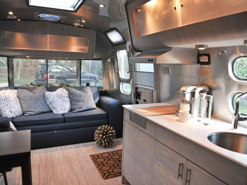 This Luxe 25 Foot Airstream International Was Decked Out By Courtney Trent Of Good Cottage TrailersTravel TrailersAirstream PartsTravel Trailer