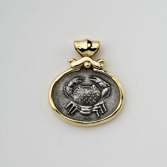 Zodiac cancer necklace pendant cancer zodiac charm coin jewelry zodiac cancer necklace pendant cancer zodiac charm coin jewelry 14k bezel pendant astrology coin aloadofball Choice Image