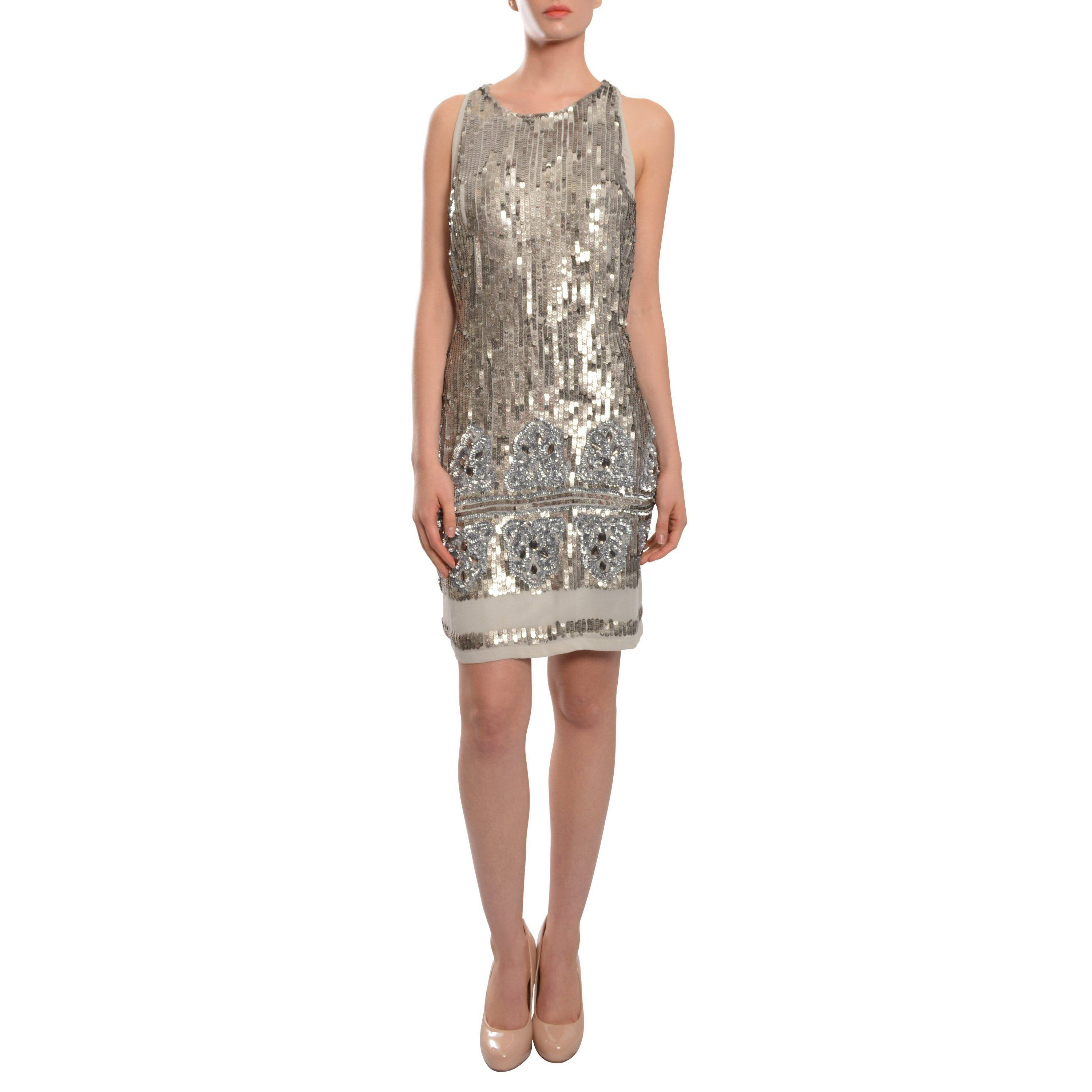 Make a fashion statement with this modern cocktail dress. The ...