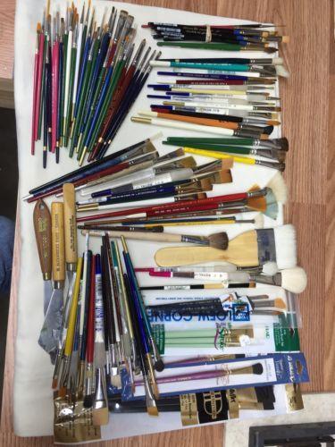 HUGE Lot 100 Paint Brush Art Oil Watercolor  Royal Loew Cornell Robert Simmons https://t.co/p3U24w2RQo https://t.co/vJ8Cw5sArN