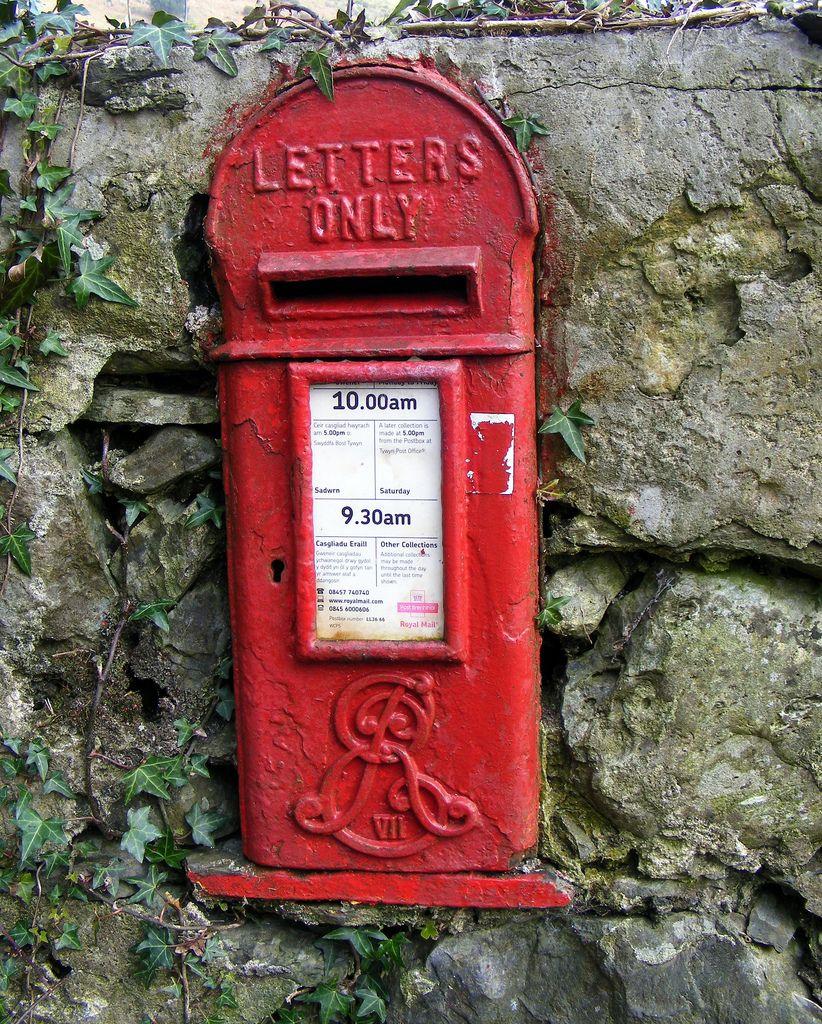 Edward Vii Post Box Post Box Royal Mail Stamps Modern Postcard