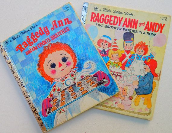 1970's Raggedy Ann and Andy Books by GiddyGirlVintage on Etsy, $7.00