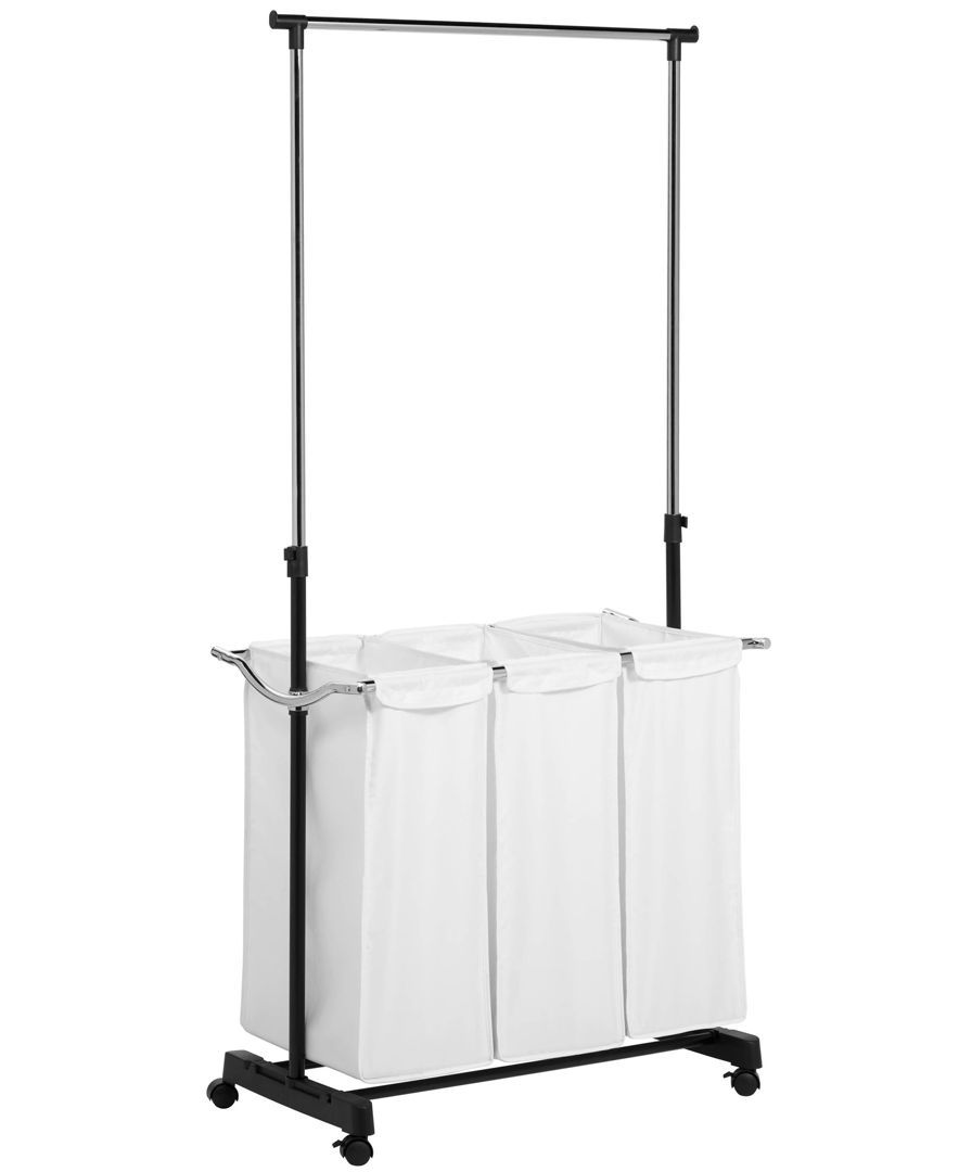 Rolling Laundry Cart With Hanging Bar Laundry Center Hanging Bar Laundry Cart