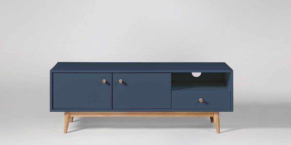 Thurlestone China Blue Tv Stand Swoon Tv Cabinet Design Blue Tv Stand Scandi Living Room