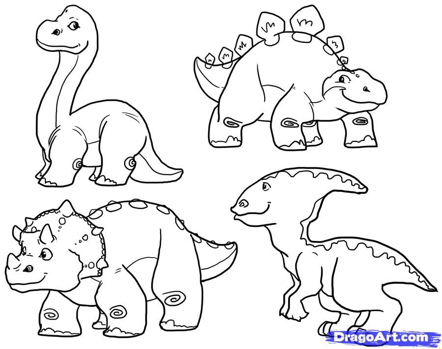How To Draw Cute Dinosaurs Cute Dinosaurs Step By Step Dinosaurs For Kids For Kids Free Online Draw Dinosaur Drawing Dinosaur Coloring Pages Cute Dinosaur