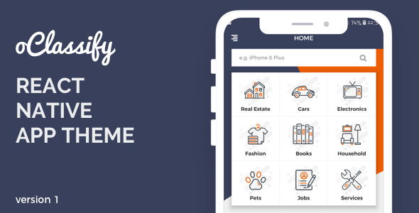 oClassify React Native Theme Nulled | Nulled Wordpress