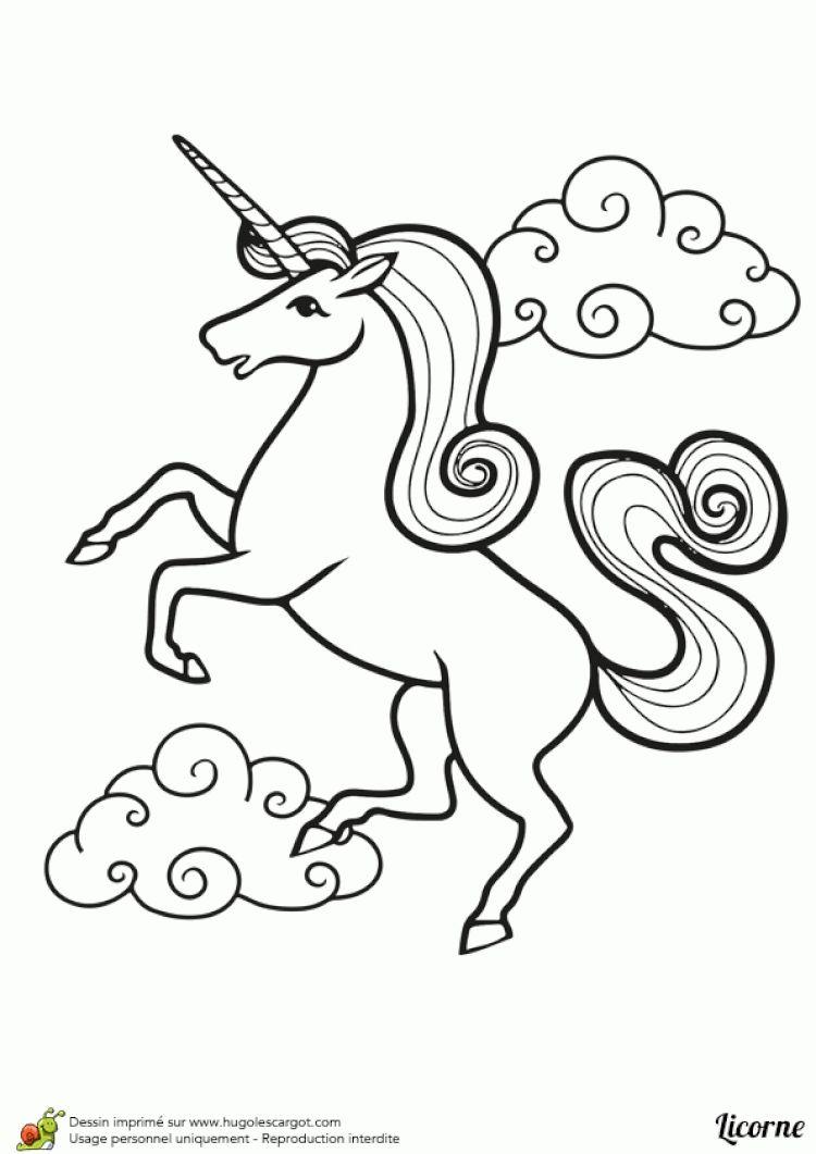 Licorne A Dessiner Licorne Coloriage Licorne à Colorier
