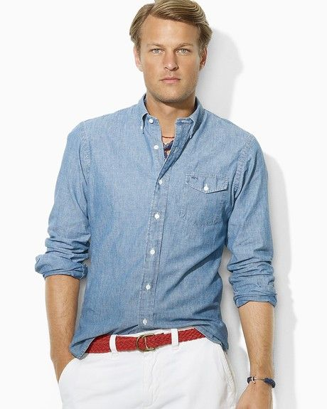 Chambray-on-white. Polo Ralph LaurenRalph ...