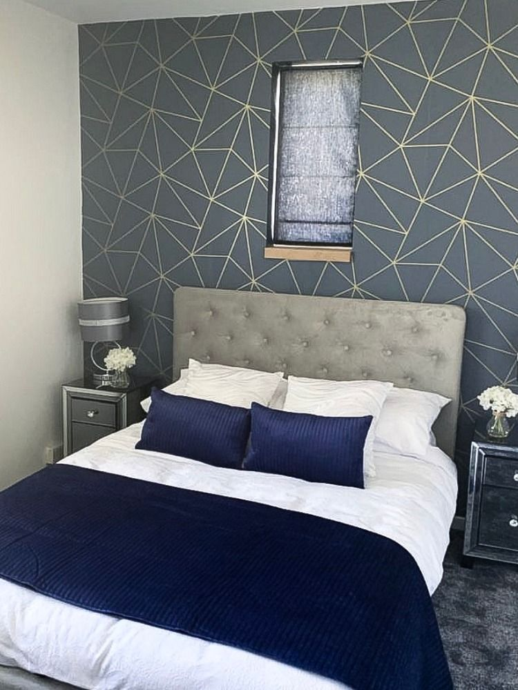 60 Stylish Blue Walls Ideas For Blue Painted Accent Walls Blue Bedroom Decor Blue Accent Walls Blue Bedroom