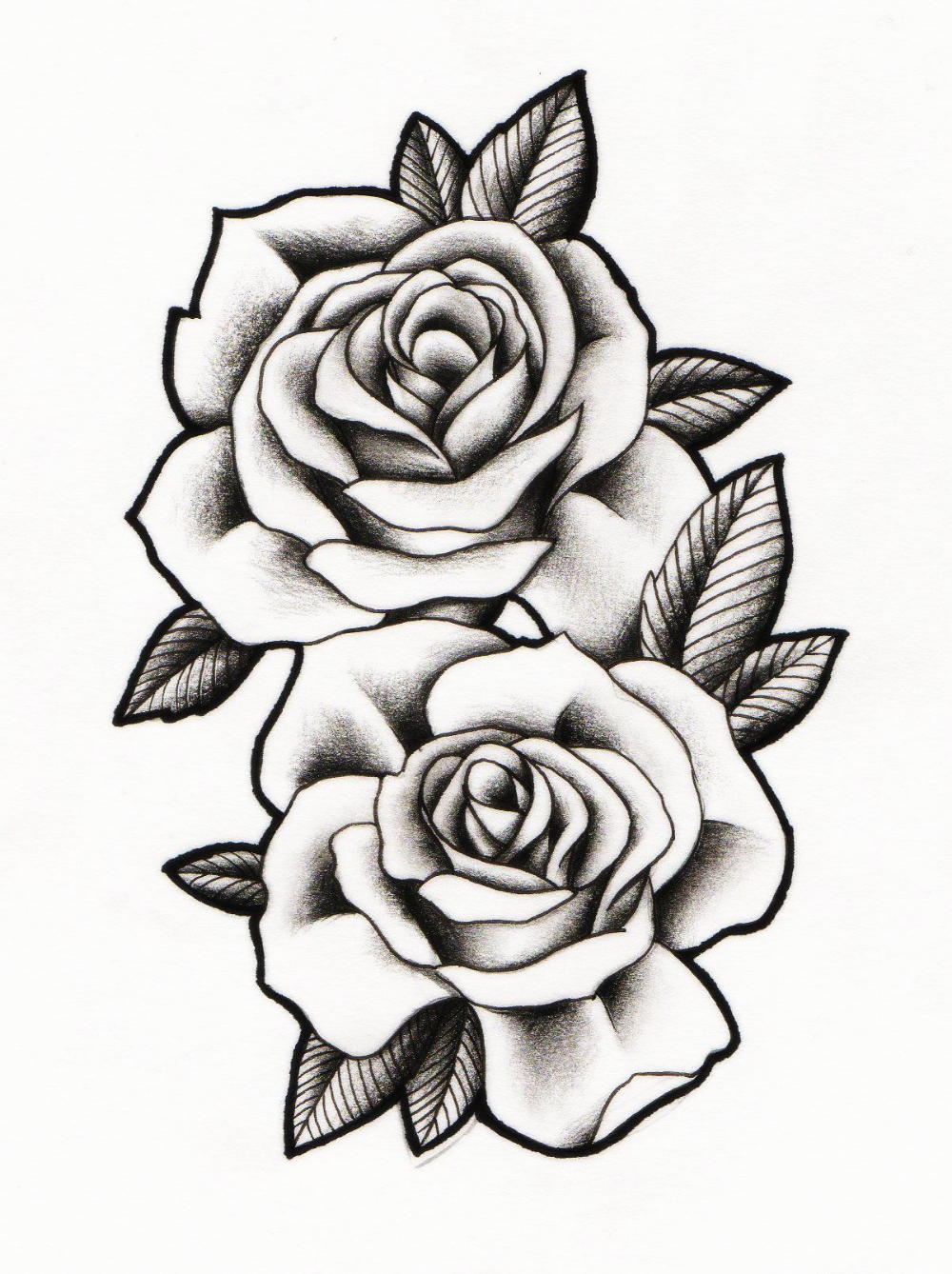 1203x1610 Rose Drawing Neo Traditional For Free Download Rose Drawing Tattoo Rose Tattoos Rose Tattoo Design