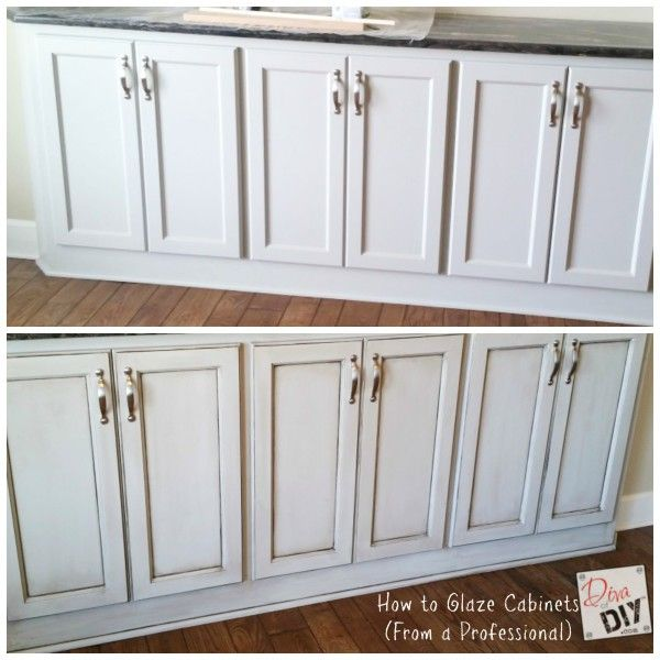 Learn how to glaze cabinets with this step-by-step tutorial plus video instruction. With 15+ years experience as a cabinet refinisher, I can show you how to get the look of glazed cabinets in your home. via @divaofdiy