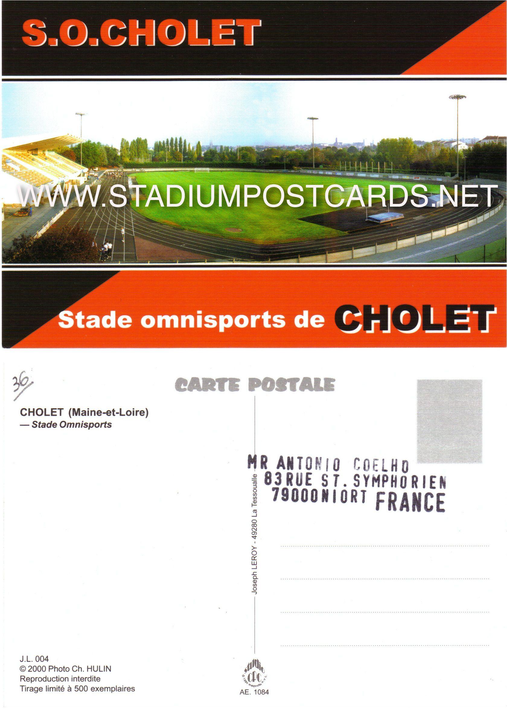 0 50 Code Fra 019 Cholet Omnisports Stadium Postcard