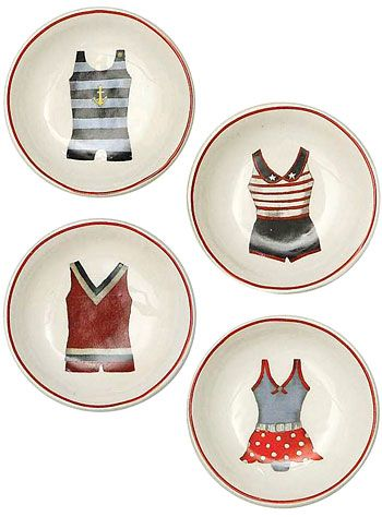 Take a Dip Vintage Bathing Suit Dish Set - Available at ShopPlasticland.com