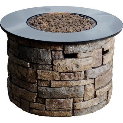 Shop Bond Canyon Ridge 20 In W 50 000 Btu Stone Look Composite