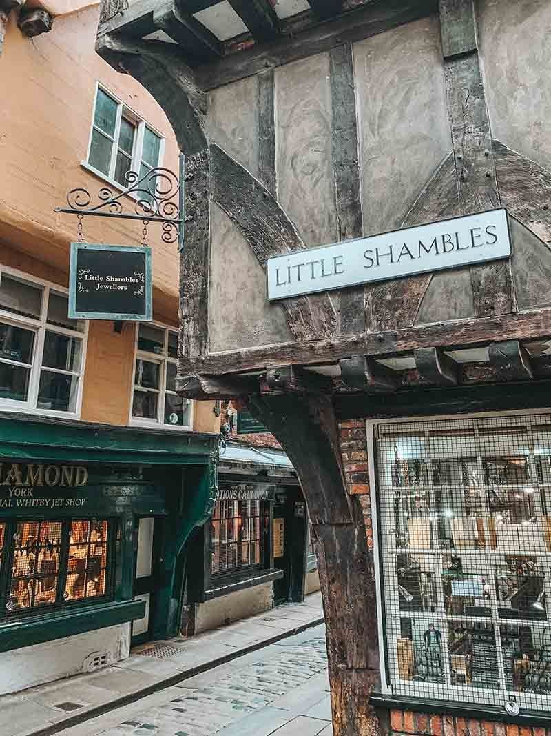 The Shambles York Medieval Street Visiting England Harry Potter New Harry Potter