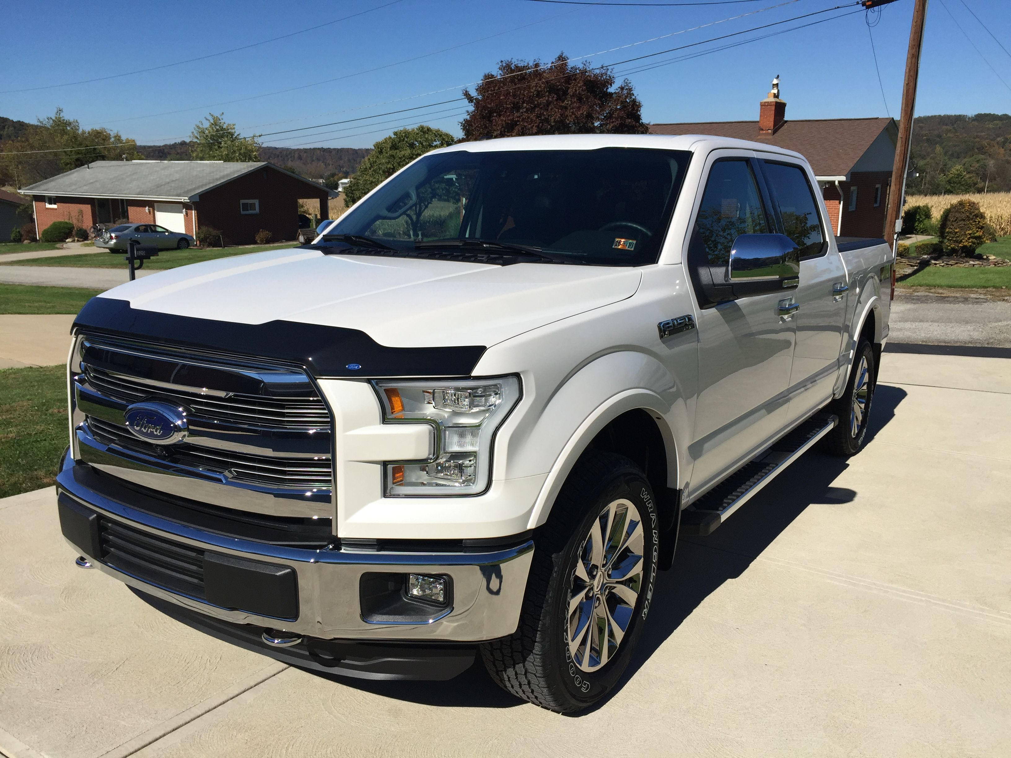 Pin By Troy Densley On Lifted White 2015 2020 F150 Platinum Ford