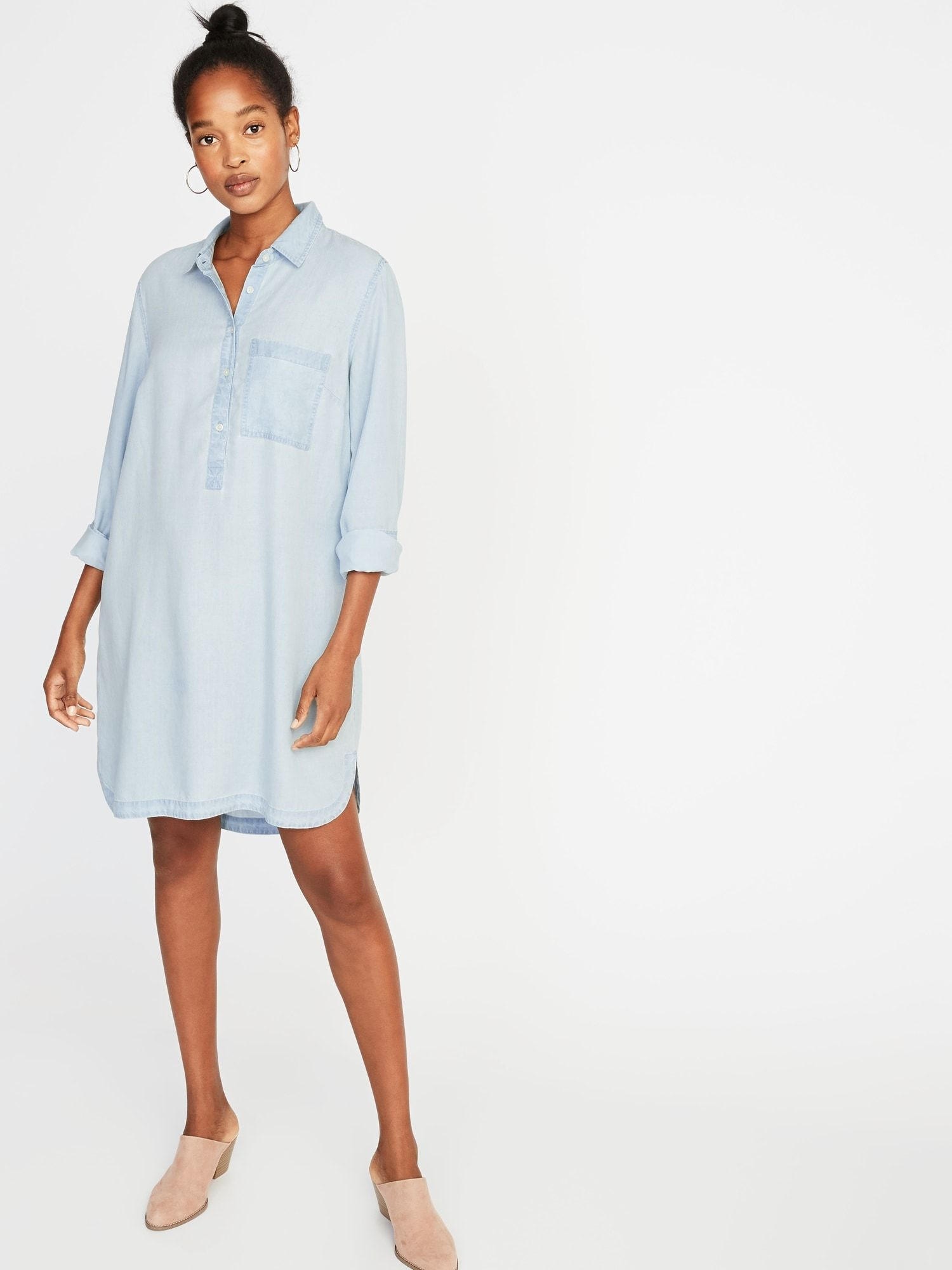 Tencel Chambray Shirt Dress For Women Old Navy Wish List In