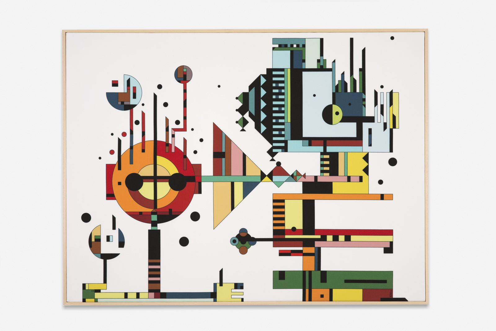 Playful Geometric Designs Geometric Designs Panel Art Unique Art
