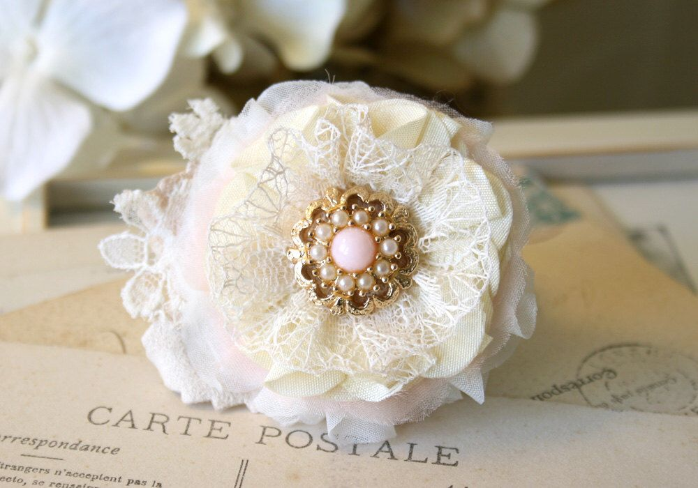 Bride Hair Flower, Blush Pink Hair Clip, Bridal Hairpiece, Bride Floral Hair Piece, Bridesmaid Hair Accessory by rosyposydesigns on Etsy https://www.etsy.com/listing/208017602/bride-hair-flower-blush-pink-hair-clip
