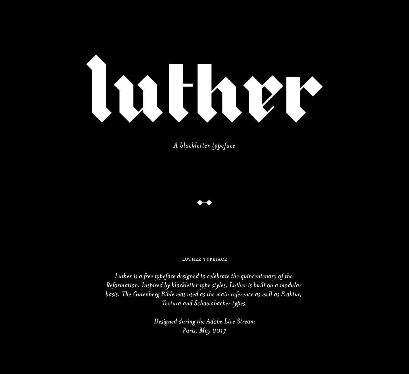 Luther Blackletter Typeface on Behance Type