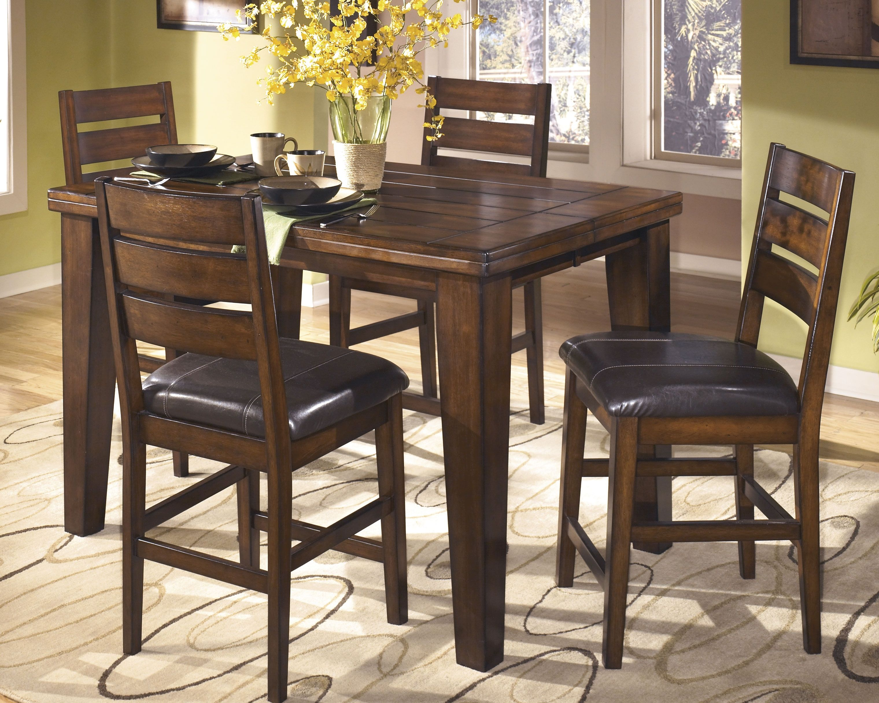 Larchmont Counter Height Dining Room Extension Table Burnished