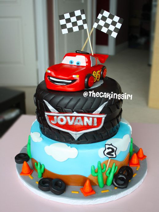 Image result for lightning mcqueen fondant cake Custom ...