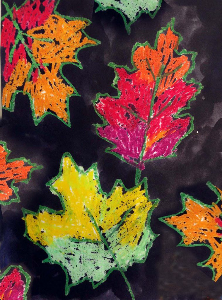 Fall Leaf Art with India Ink · Art Projects for Kids #fallartprojectsforkids