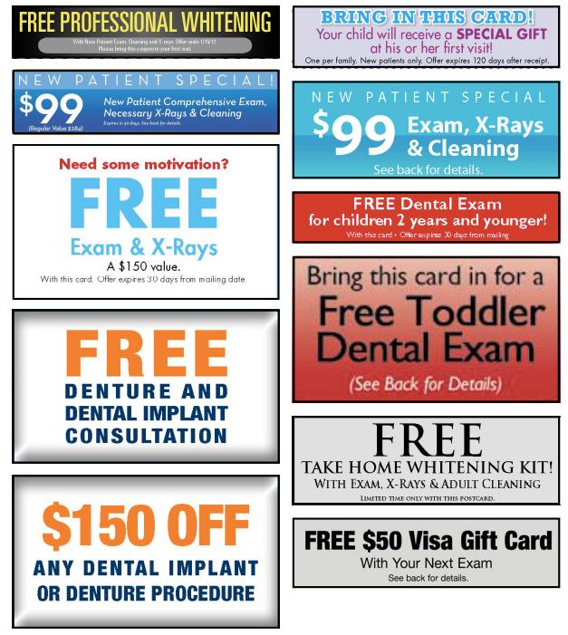 Assortment Of Effective Dental Marketing Offers Promotion