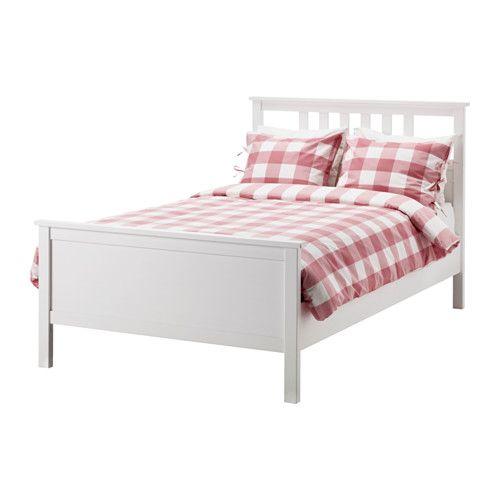 Hemnes Rama łóżka Biała Bejca Mieszkanie Sypialnia