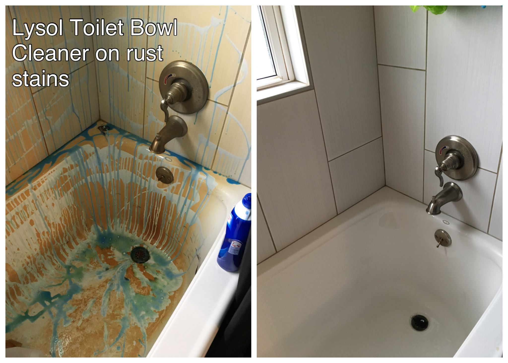 Lysol Toilet Bowl Cleaner works amazingly on hard water rust stains ...