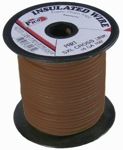 Pico 82166s 16 Awg Brown Sxl Cross Linked Wire For Higher Heat Resistance 100 Per Package By Pico 24 95 Sxl Cross Electrical Wiring Polyethylene Insulation
