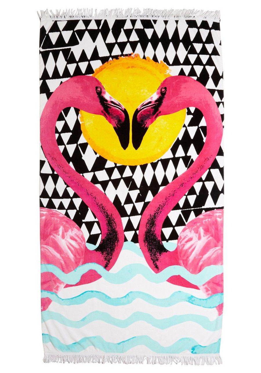 This Flamingo Print Towel From South Beach Is Perfect For