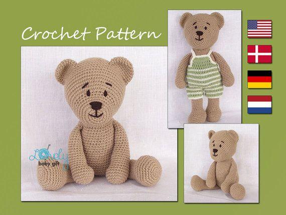 Amigurumi Crochet Patterns Teddy Bears : Patrón amigurumi crochet amigurumi oso oso de por lovelybabygift