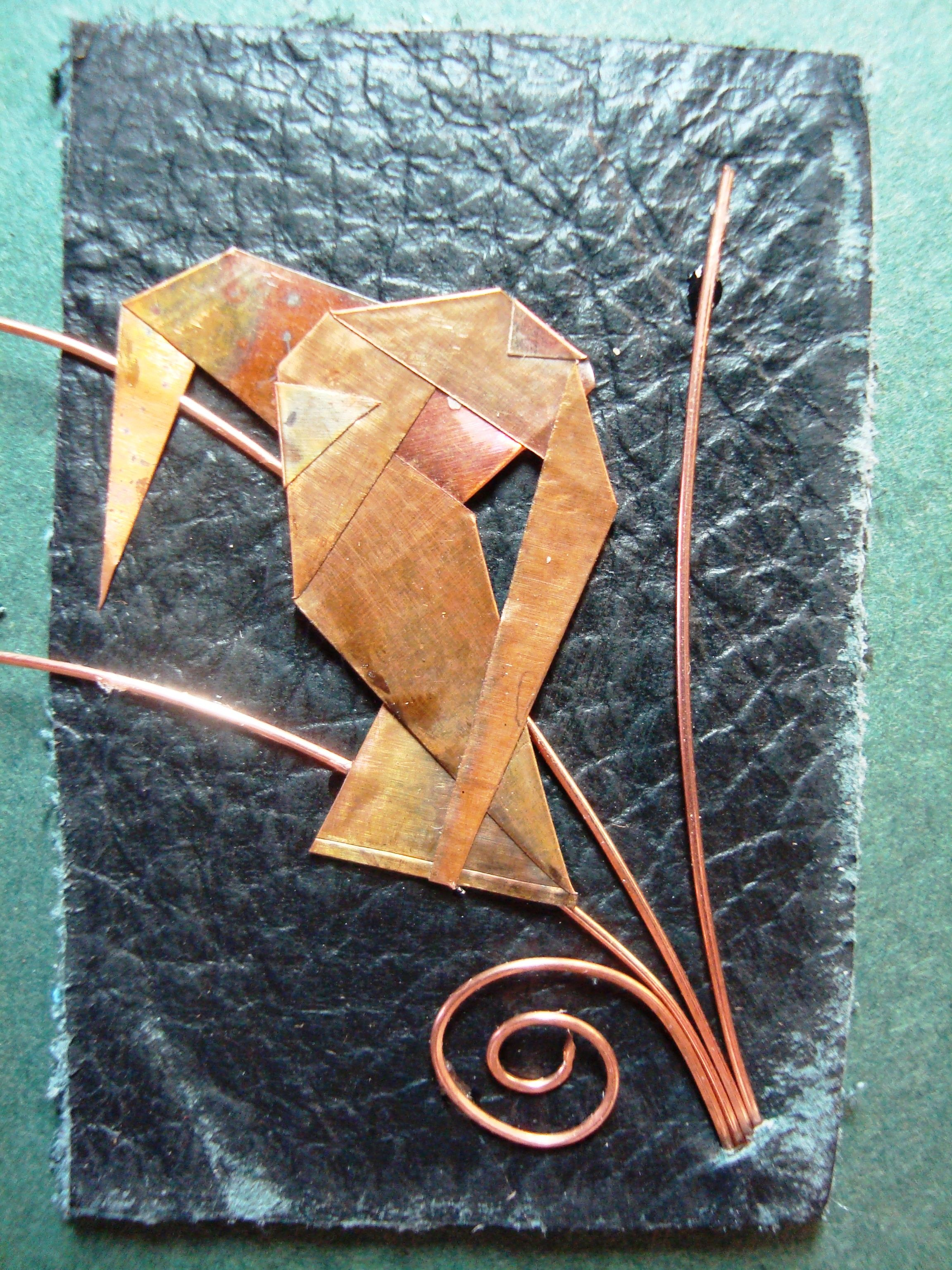 by LouTraylor: folded copper sheet/copper wire/leather   Metal Work ...