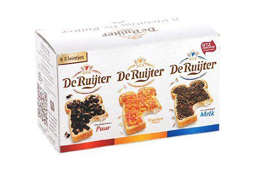 De Ruijter 8 Kleintjes Mini Box's (De Ruyter Hagelsag (sprinkels)Melk & Puur, Vlokken Melk & Puur en Vruchtenhagel) 1 box with 8 small Assortment De Ruijter