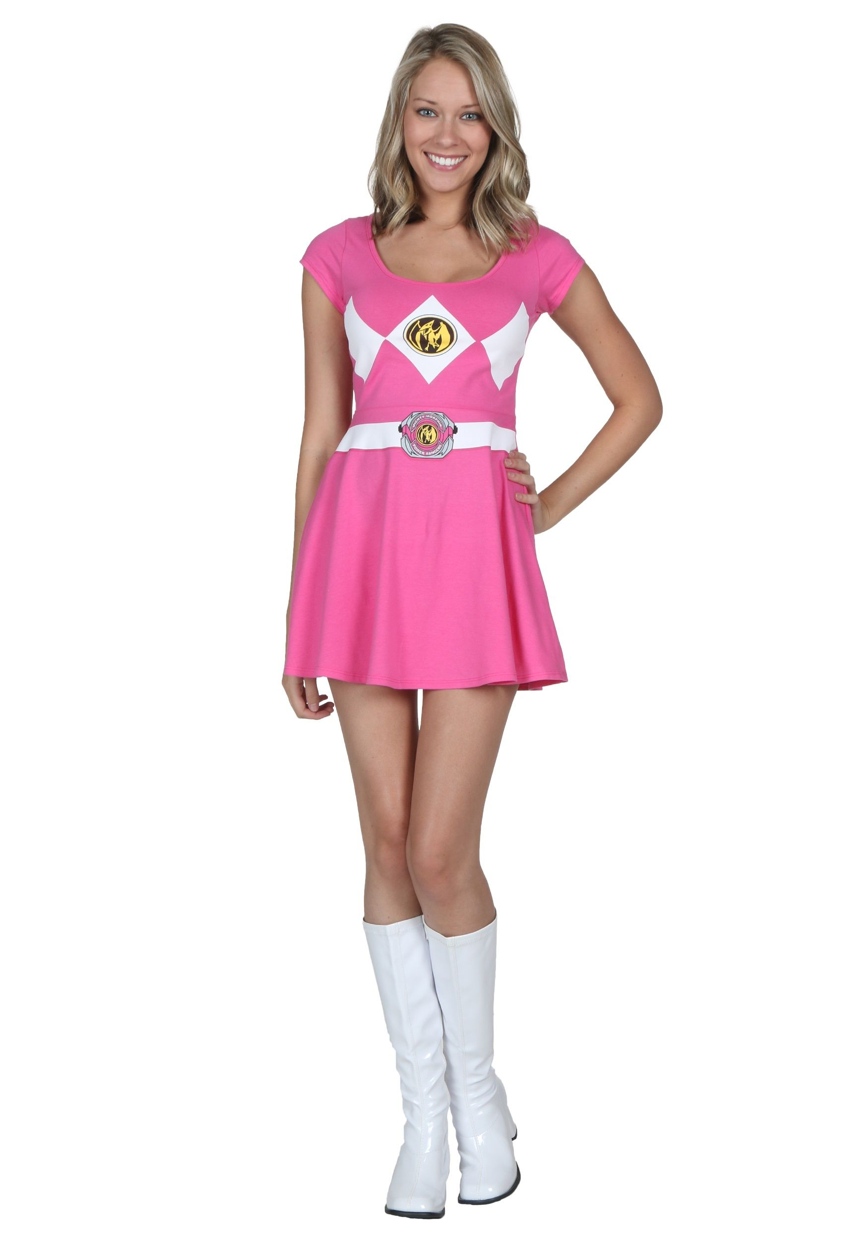 Power Rangers Pink Ranger Skater Dress  sc 1 st  Pinterest & Power Rangers Pink Ranger Skater Dress | Halloween 2015 | Pinterest ...