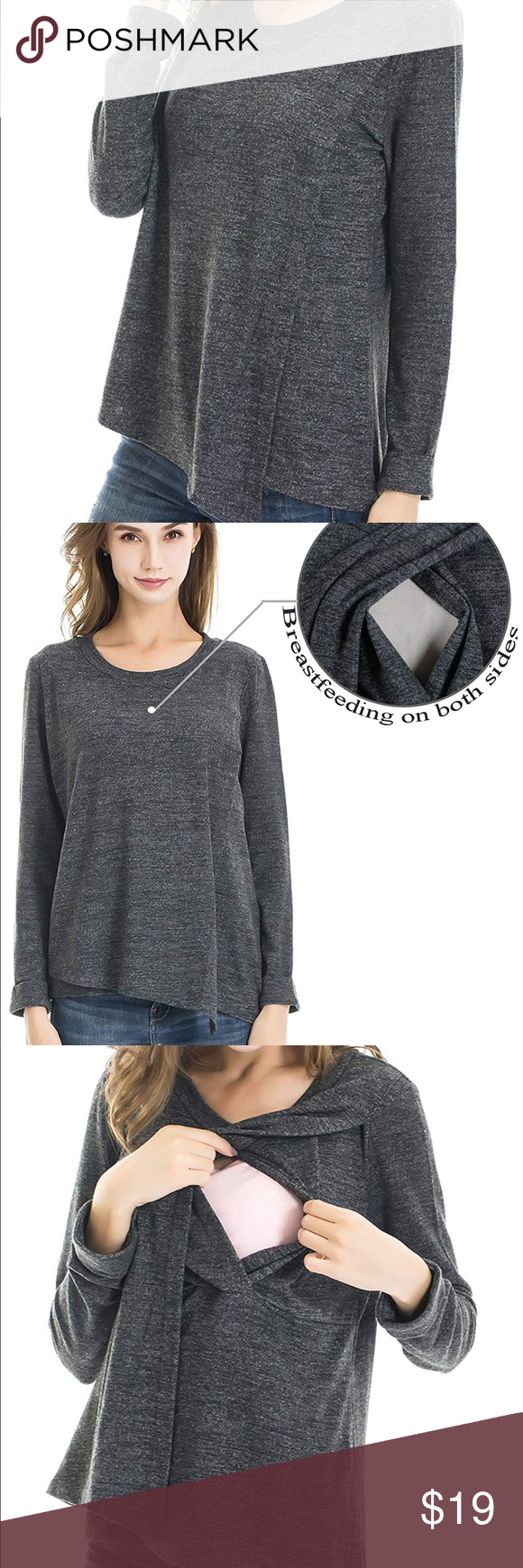 4b1effccb19 Women's Nursing Top Knitting Cotton and Jersey material,stretchy and  practical for Spring and Autumn