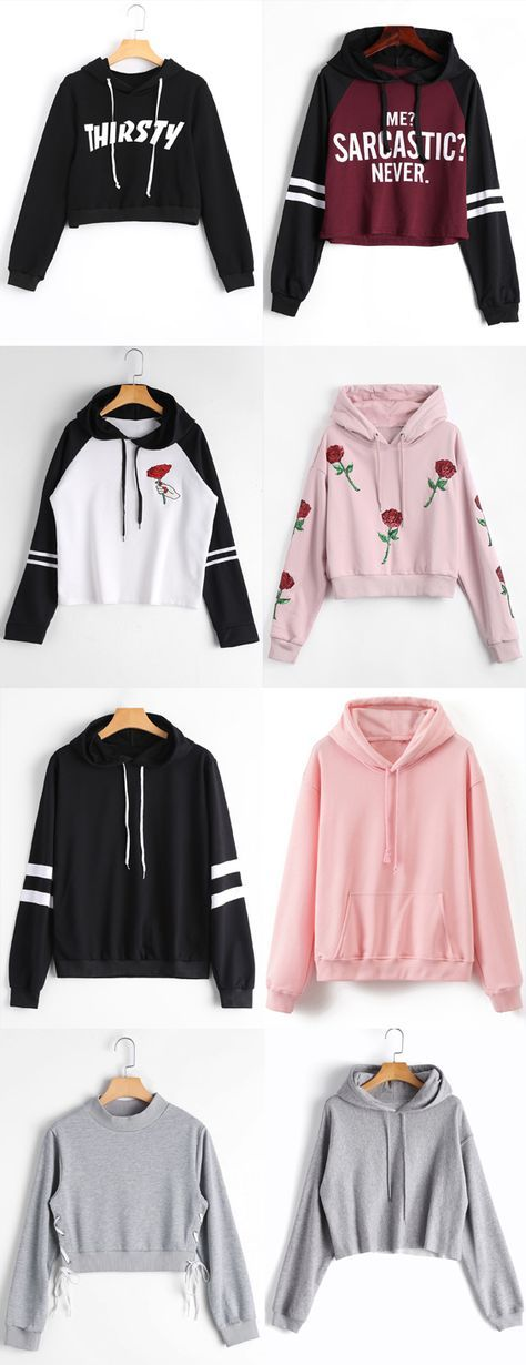 Up to 80% OFF! Loose Cropped Letter Hoodie. Zaful,